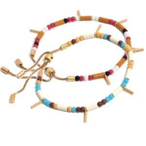 2 Madewell Adjustable Multi Seed Bead Bracelets